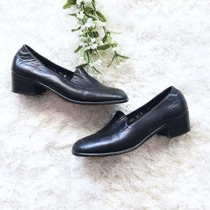 Cole Haan Dark Brown Heeled Loafer Slip On Shoes